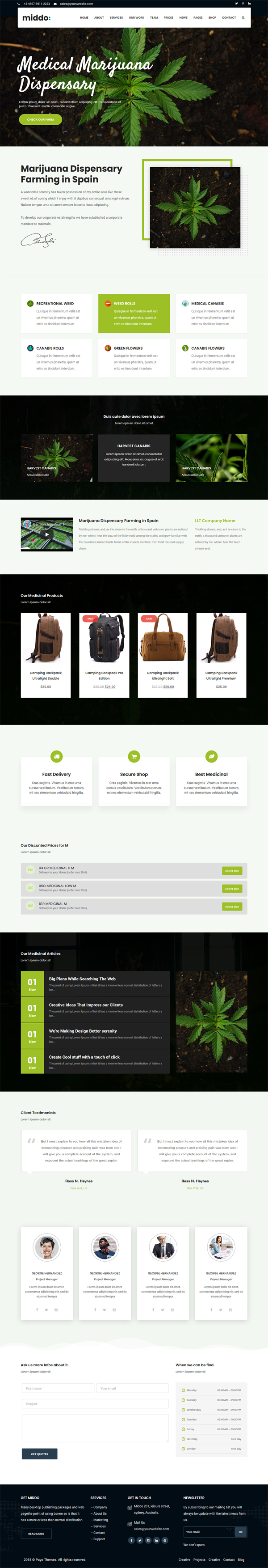 Medicinal Cannabis WordPress Theme